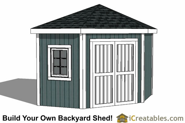 10x10 5 Sided Corner Shed Pla