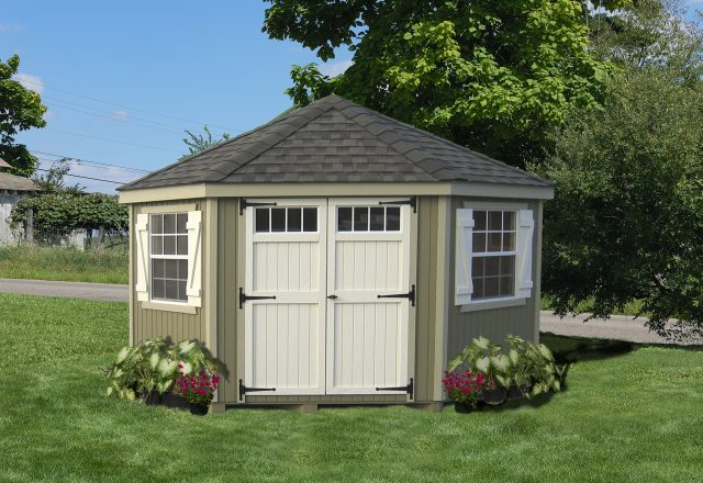 Colonial Five Corner 10 x 10 Shed | BetterSheds.c