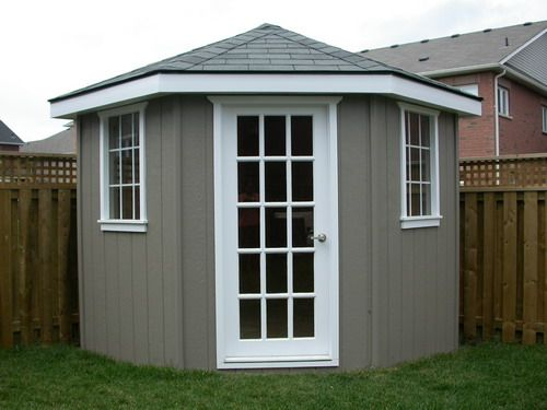 DIY Corner Shed | Corner sheds, Diy shed, Backyard she