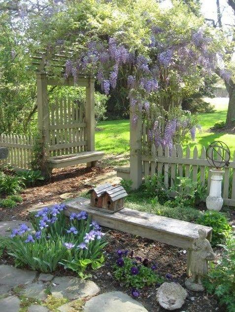 Cottage Garden Ideas from Pinterest for Our Blue Cottage Garden .