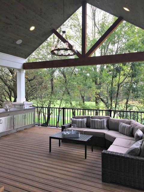 My two favorite home tours ever! | Patio, Building a deck, Pergo