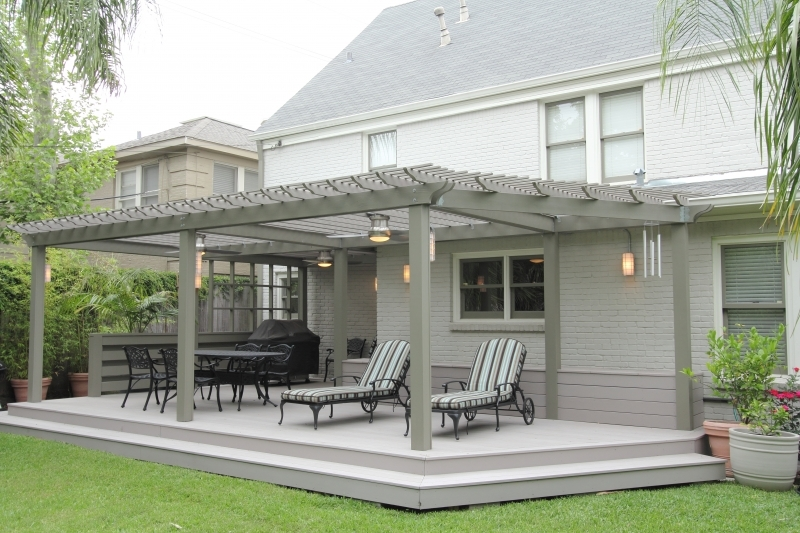 Deck Installation | Abbott Contracting | Covered Patio | Houston Dec