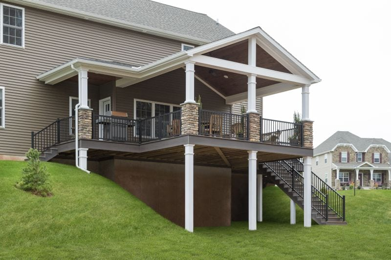 Covered Backyard Deck in Palmyra, PA – Stump's Dec