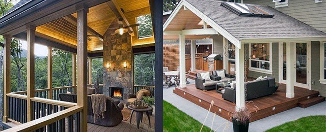 Top 40 Best Deck Roof Ideas - Covered Backyard Space Desig