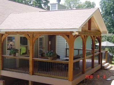 Covered Deck Design Ideas | Gabled roof open porch - Covered .