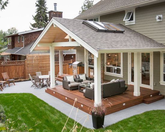 Will use similar roof . Traditional Patio Covered Patio Design .