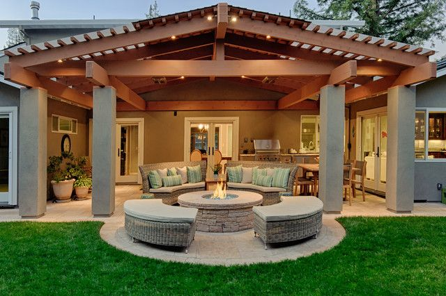 20 Of The Most Beautiful Patio Designs Of 2015 | Backyard covered .