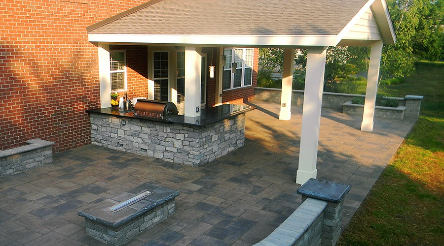 Covered Patio and Roofs - Landscaping Outdoor Kitchens Outdoor .