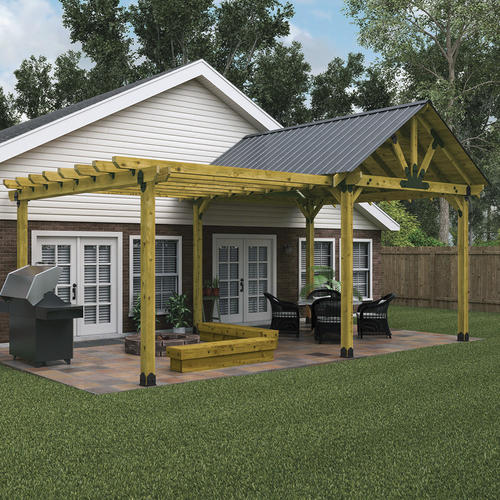 Covered Patio and Pergola Project Material List at Menards