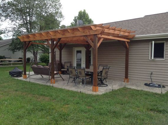 Covered Pergola Plans 12x20' Outside Patio Wood Design by CinciPro .