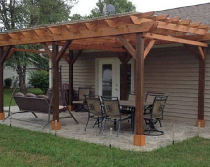 Covered Pergola Plans 12x24' Outside Patio Wood Design Covered .