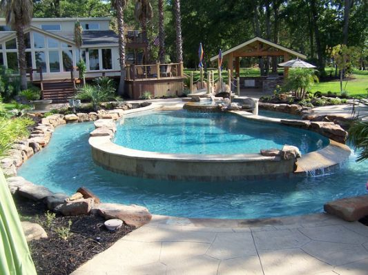 Calvary Custom Pools Lazy River | Swimming pools backyard .