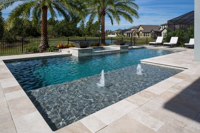 Tampa Bay Pools can design a classical geometric custom pool and .