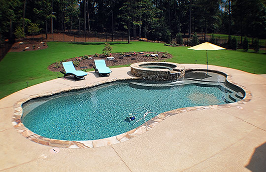 J & M Custom Pools, LLC. - Senoia, GA - Totally Hayward Pool Build