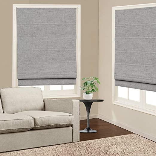 Amazon.com: Roman Shades Window Blinds, Grey Premium Blackout .