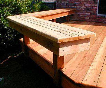 Best Deck Benches - Design Ideas | Deck bench, Patio deck designs .