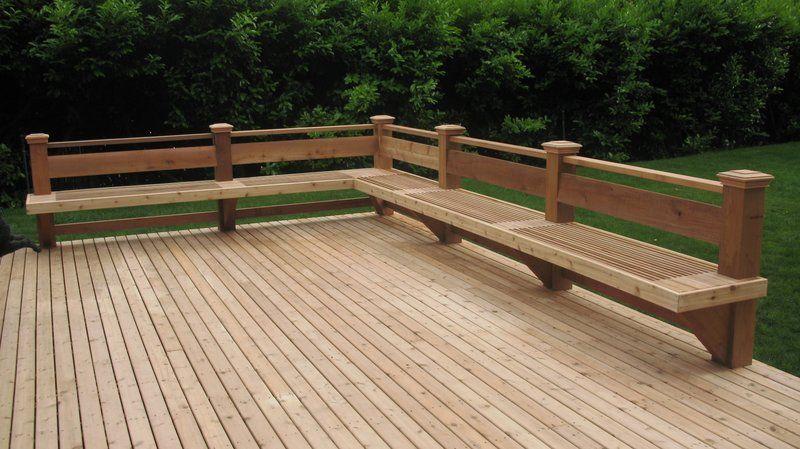 Seattle's Deck Builder - Portfolio | Decks backyard, Deck bench .