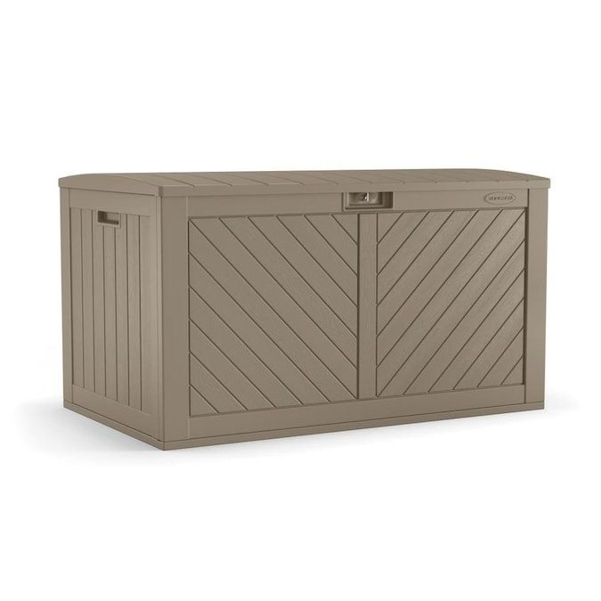 Suncast 26.75-in L x 49.25-in 134-Gallon Brown Deck Box in the .