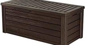 Amazon.com : Keter Westwood 150 Gallon Resin Large Deck Box .