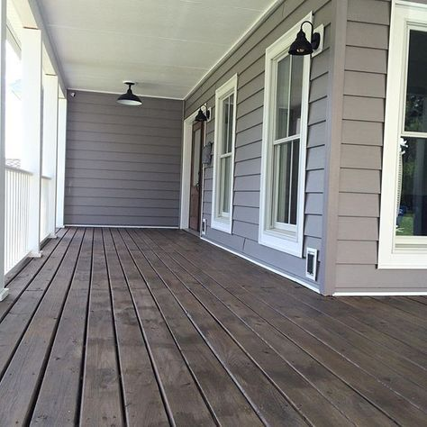 Image result for grey siding which deck color | Staining deck .