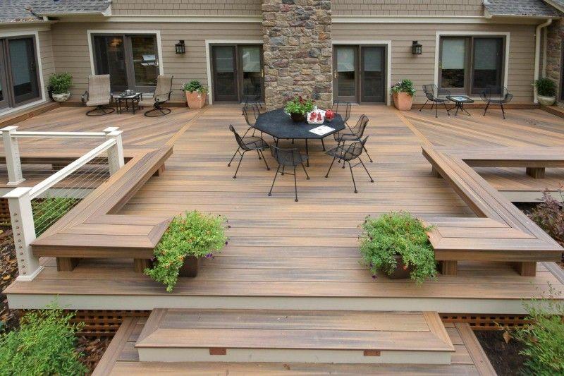15 Modern Deck Design Photos - BeautyHarmonyLife | Backyard patio .