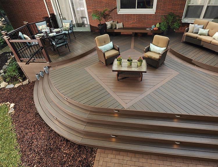 Deck Design Ideas: Diagonal Inlay Pattern | TimberTe