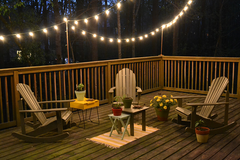 DIY Deck Lighting | Hearts and Shar