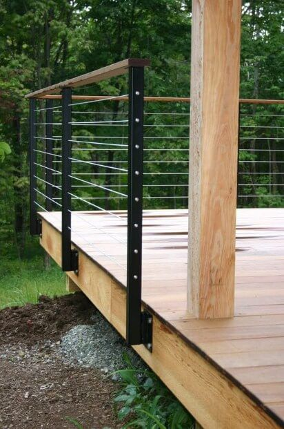 Cool Deck Railing Ideas to Fit Your Home Decor in 2020 | Diy deck .