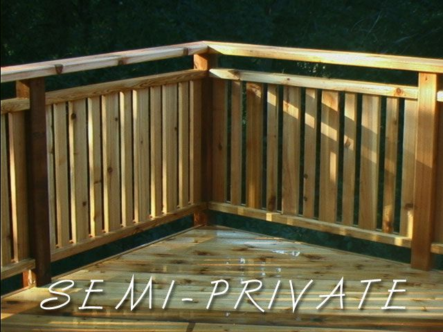 semi-private railing | Deck railings, Deck railing design .