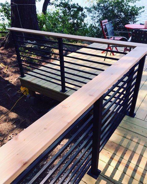 Top 50 Best Metal Deck Railing Ideas - Backyard Designs | Railings .
