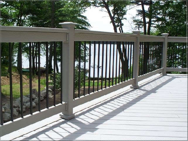 100s of Deck Railing Ideas and Designs | Metal deck railing .