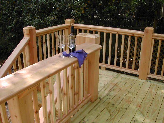 Cedar Deck Railing Ideas | pictures of decks | deck designs .