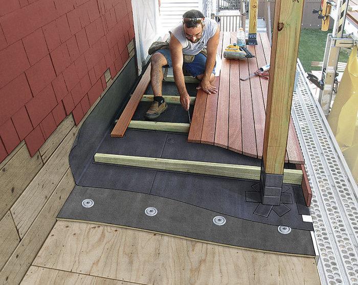 Decking Over a Roof - Fine Homebuildi