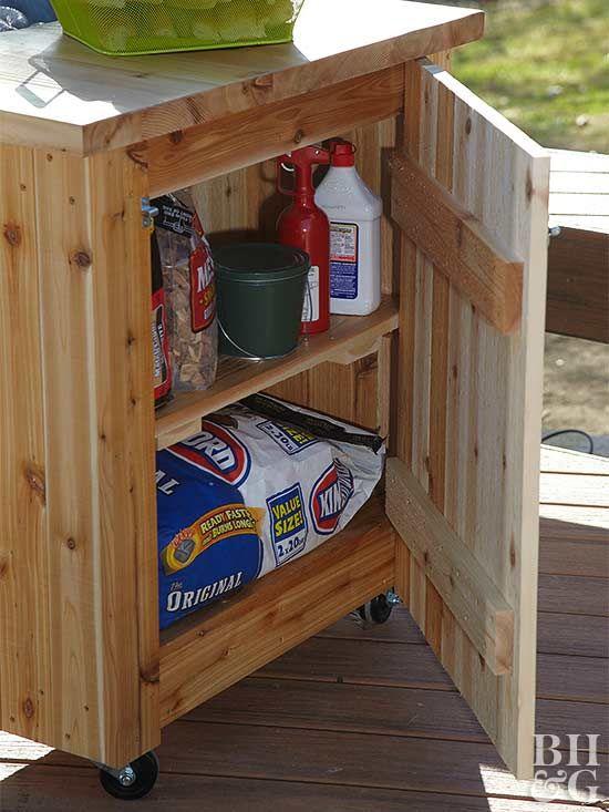 Grilling Supplies | Deck storage, Diy deck, Patio stora