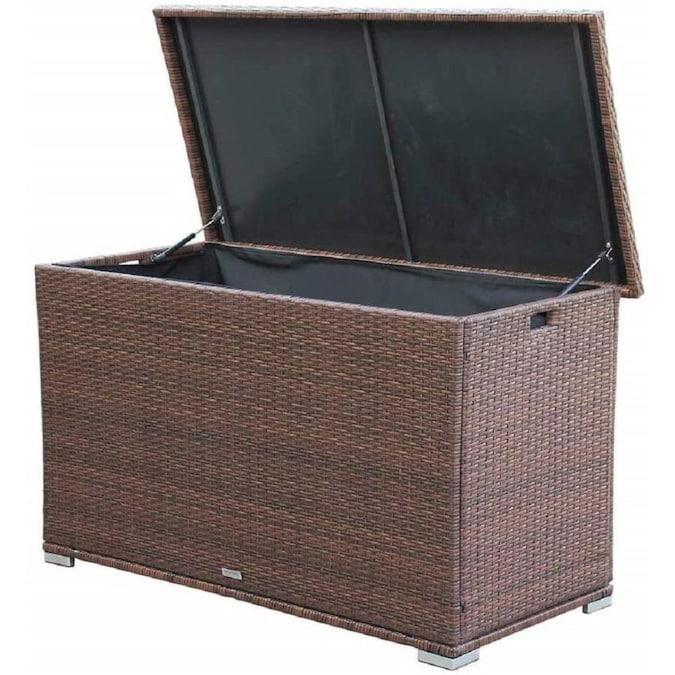 Direct Wicker Anita Waterproof Outdoor Patio Storage Deck Box 264 .