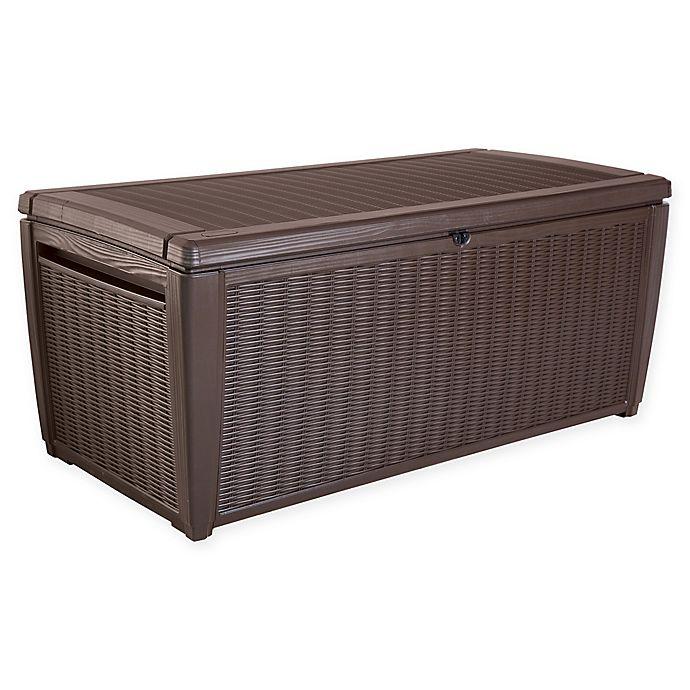 Keter Sumatra Outdoor Deck Storage Box in Brown | Bed Bath & Beyo
