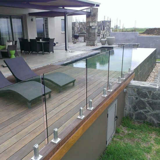 China Decking Fence Glass Railing & Glass Balustrade Frameless .