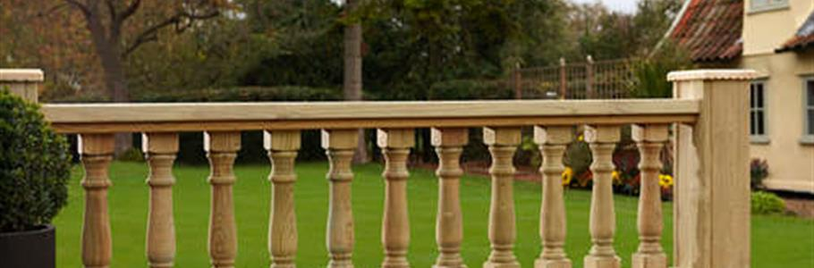 Balustrade handrails for decki