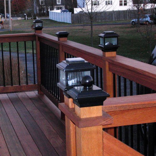 Polaris Solar Post Cap Light by Aurora Deck Lighting   Deck .