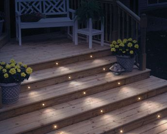 Lighting your deck stairs is an easy way to add to your outdoor .