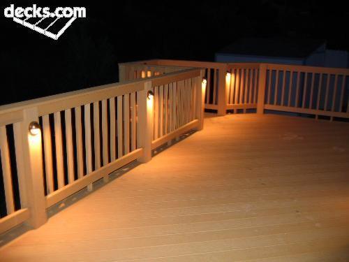 Deck Pictures - Decks.com   Backyard lighting, Deck lighting .