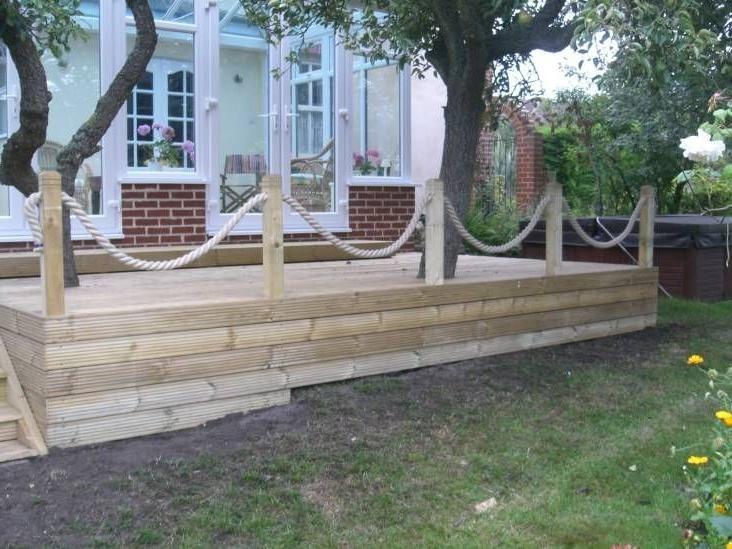 8 Fantastic Decking Rope Ideas - The Home Builders | Außengeländer .