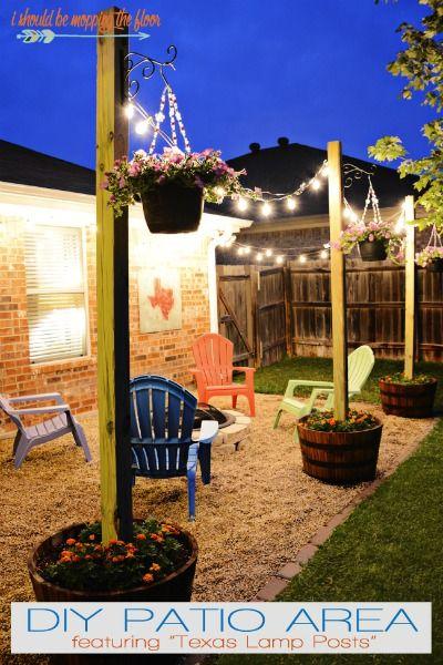 Midsummer Night Patio Ideas | Diy patio, Backyard lighting .
