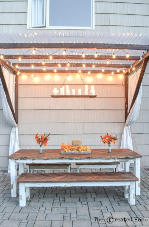 How to Build a Super Frugal Pergola - The Created Ho