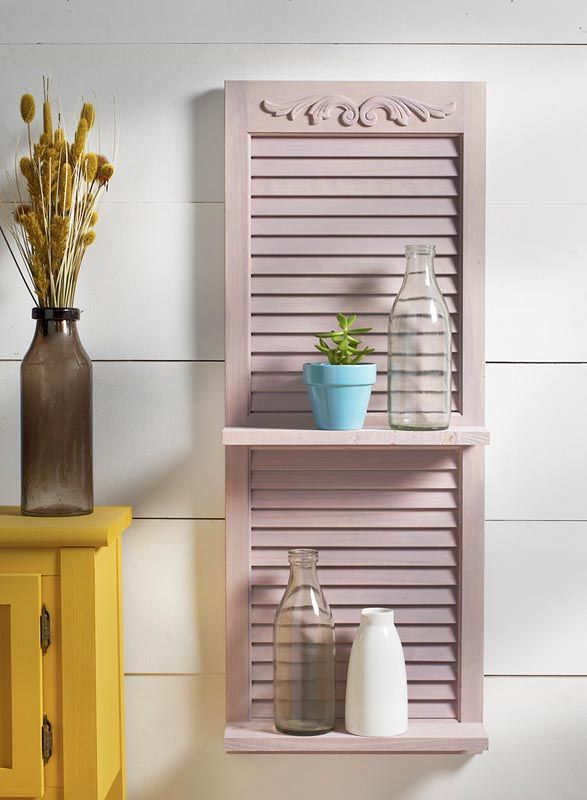 Repurposed Shutter Shelf - Project | Shutters repurposed, Diy .