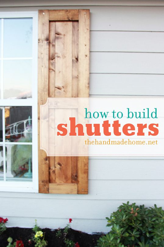How to build shutters | Diy shutters, Handmade home, Diy home .