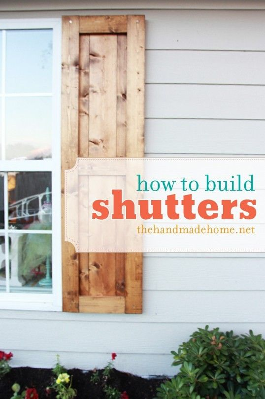 how to build shutters an easy DIY project for great curb appeal .