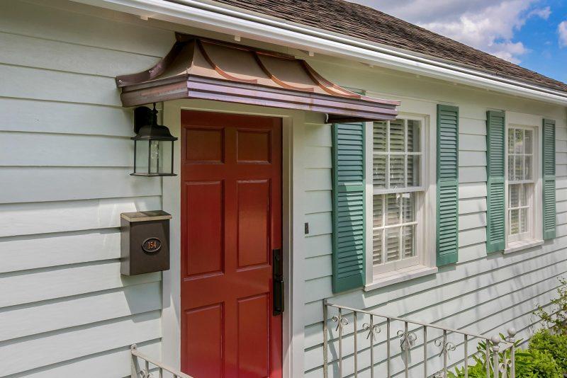 Metal Door Awnings Custom Built from Crescent City Copp