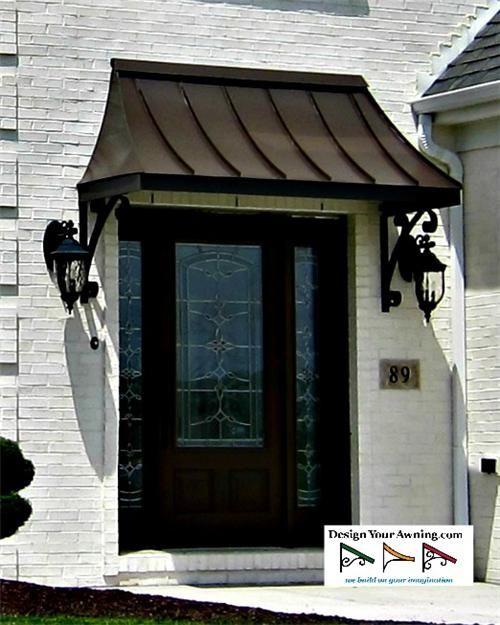 Superb Exterior Door Awning #5 Awning Over Front Door | Metal door .
