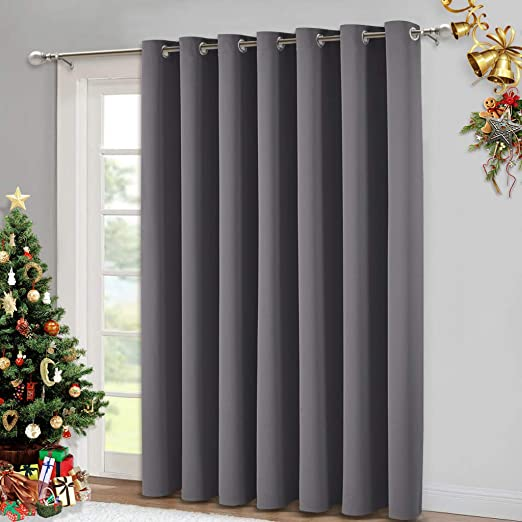 Amazon.com: NICETOWN Sliding Patio Door Curtains - Grey Blackout .